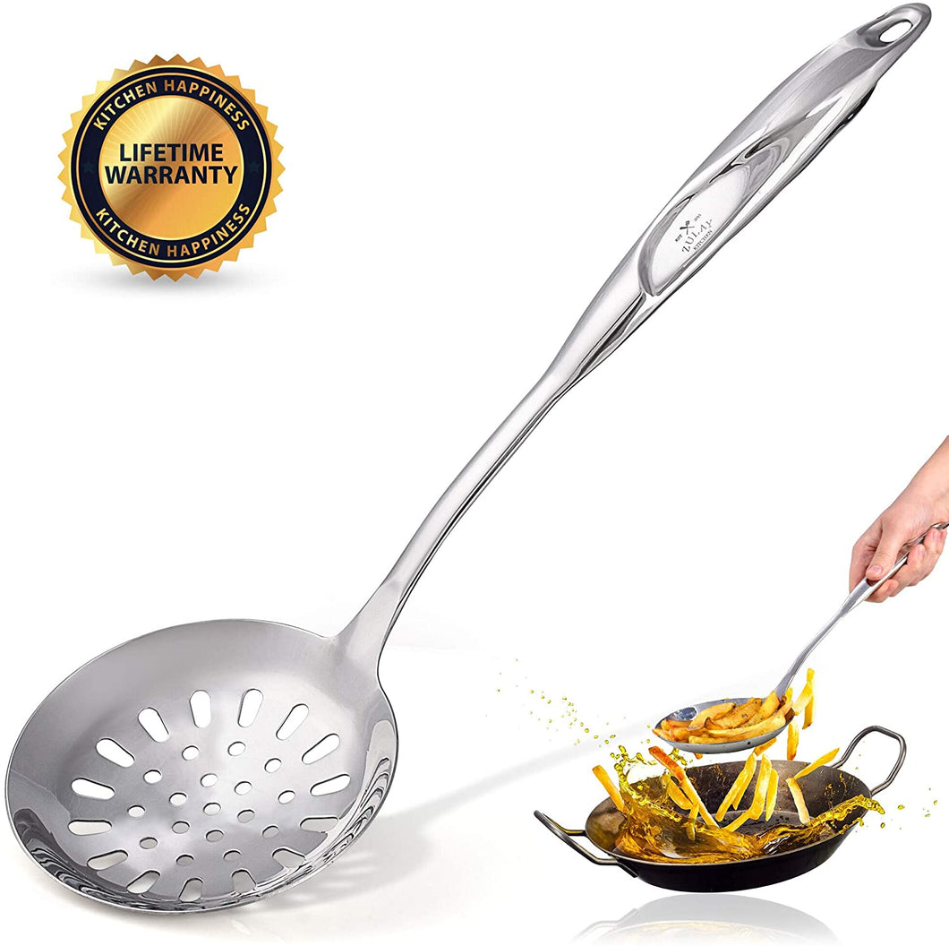 Zulay Kitchen Stainless Steel Skimmer Spoon