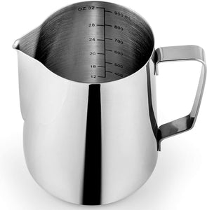 Stainless Steel Frothing Pitcher with Easy to Read Measurements