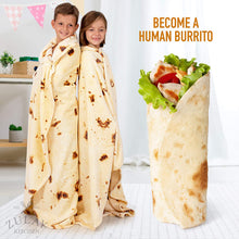 Load image into Gallery viewer, Novelty Throw Blanket Flour Tortilla Design