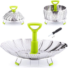 Load image into Gallery viewer, Adjustable Vegetable Steamer Baskets For Cooking