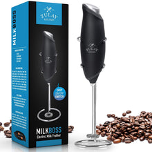 Load image into Gallery viewer, 2020 Milk Frother Electric Handheld Foam Maker for Lattes - Mini Blender and Milk Foamer Frother for Cappuccino, Frappe, Matcha, Hot Chocolate - Zulay Kitchen