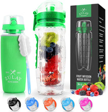 Load image into Gallery viewer, Portable Water Bottle with Fruit Infuser for Healthy & Delicious Hydration