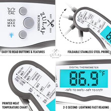 Load image into Gallery viewer, Instant Read Digital Meat Thermometer with Probe