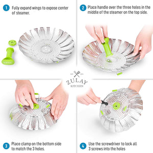 Adjustable Vegetable Steamer Baskets For Cooking