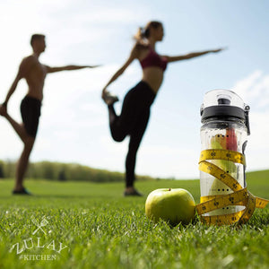 Hydration Nation Water Bottle with Fruit Infuser for Healthy & Delicious Hydration