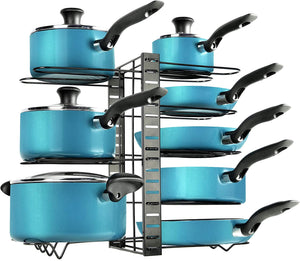Kitchen 8-Tier Pot Organizer Rack For Under Cabinet