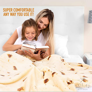 Novelty Throw Blanket Flour Tortilla Design