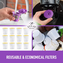 Load image into Gallery viewer, Zulay Reusable K Cups Coffee Filters 4 pack