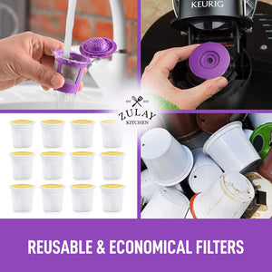 Zulay Reusable K Cups Coffee Filters 4 pack
