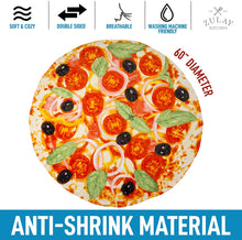 Load image into Gallery viewer, Novelty Premium Soft Flannel Big Pizza Blanket