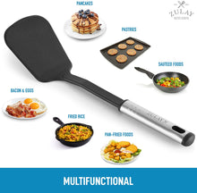 Load image into Gallery viewer, Premium Nylon Spatula (12.5 inch) - Flexible Nylon Spatula Turner With Stainless Steel Ergonomic Handle