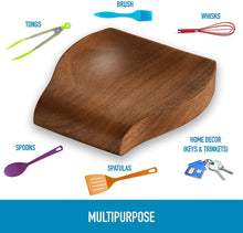 Load image into Gallery viewer, Zulay Acacia Wood Spoon Rest For Kitchen