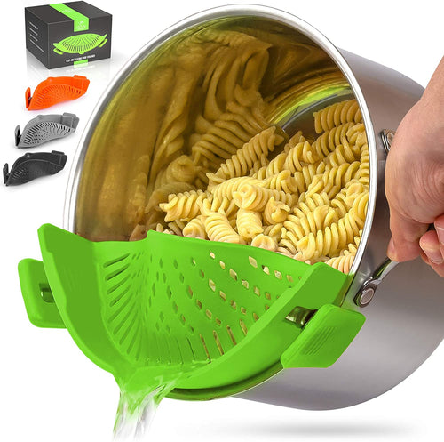 Adjustable Silicone Pot Strainer For Most Pots & Pans - Zulay Kitchen