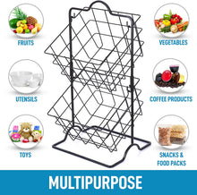 Load image into Gallery viewer, Durable 2-Tier Metal Fruit Stand Storage & Organizer