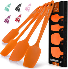 Load image into Gallery viewer, Heat Resistant Silicone Spatula Set with Durable Stainless Steel Core
