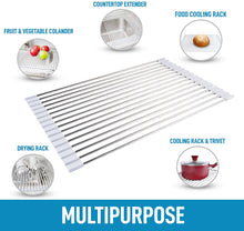 Load image into Gallery viewer, Multipurpose Roll Up Sink Drying Rack & Trivet (Medium)