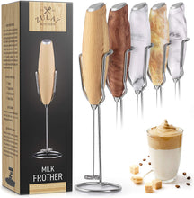 Load image into Gallery viewer, Zulay Milk Frother Handheld Foam Maker With Upgraded Holster Stand