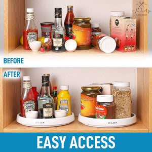 Lazy Susan Cabinet Organizer With Silicone Padded Grip