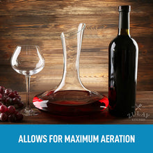 Load image into Gallery viewer, Crystal Red Wine Decanter - 100% Hand Blown Lead-Free Glass Wine Aerator (1800ml)