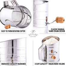 Load image into Gallery viewer, Flour Sifter with Agitator Wire Loop For Baking Cakes, Pastries, Pies, Cupcakes and Desserts
