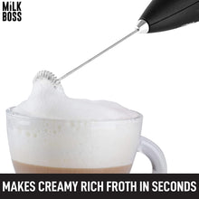 Load image into Gallery viewer, Milk Boss Milk Frother With Holster Stand - Electric Handheld Foam Maker For Coffee, Lattes, Matcha & More