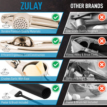 Load image into Gallery viewer, Garlic Press and Peeler Set With Silicone Peeler & Brush