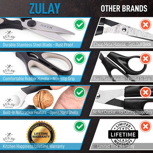 Multi-Purpose Kitchen Scissors, Premium Kitchen Shears Heavy Duty Stainless Steel