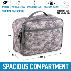 Insulated Lunch Bag With Spacious Compartment & Built-In Handle