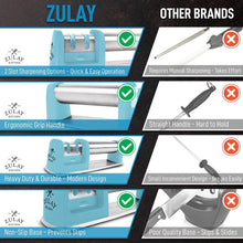 Load image into Gallery viewer, Knife Sharpener for Straight and Serrated Knives - Easy Manual Sharpening - Zulay Kitchen