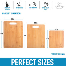 Load image into Gallery viewer, Bamboo Wooden Cutting Boards - 3 Assorted Sizes - Zulay Kitchen