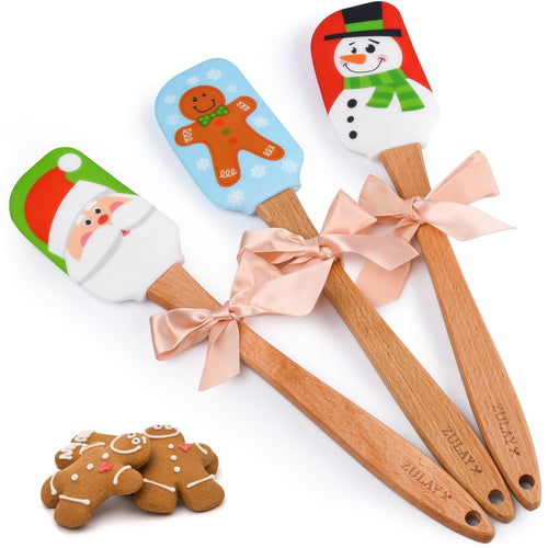 Christmas Cake Decorating Spatula (3pc Set) - Zulay Kitchen