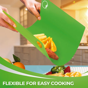 Extra Thick Plastic Cutting Boards Set for Kitchen