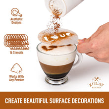 Load image into Gallery viewer, Plastic Stencils for Latte Art 16 Pack - Zulay Kitchen