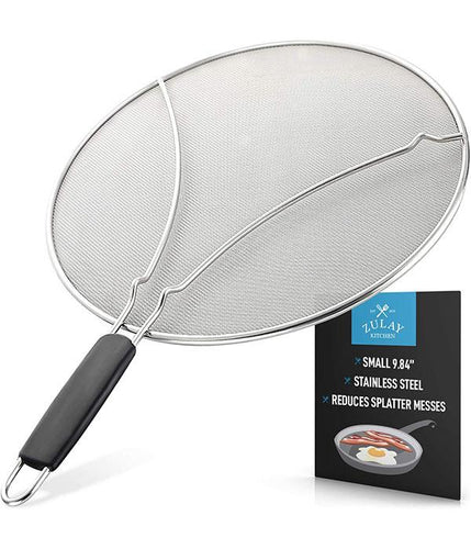 Zulay Kitchen Splatter Screen for Frying Pan - Stainless Steel Grease Guard Shield and Catcher - Zulay Kitchen