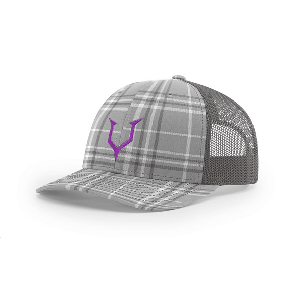 Headcase - Plaid Grey Trucker Snapback