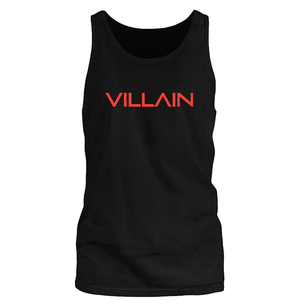 VILLAIN - TANK SLEEVELESS T'S - BLACK