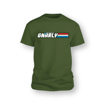 VILLAIN - SHOTGUN GNARLY JOE T-SHIRT - MILITARY GREEN