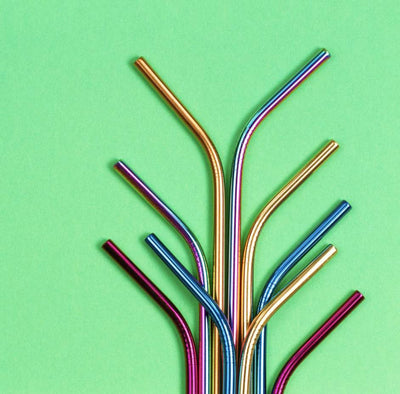 wholesale metal colored straws