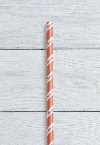 striped paper straw with custom branding