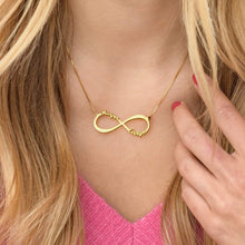 Load image into Gallery viewer, Infinity 4 Names Necklace