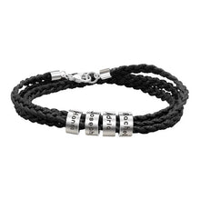Load image into Gallery viewer, Men Braided with Small Custom Beads in Silver