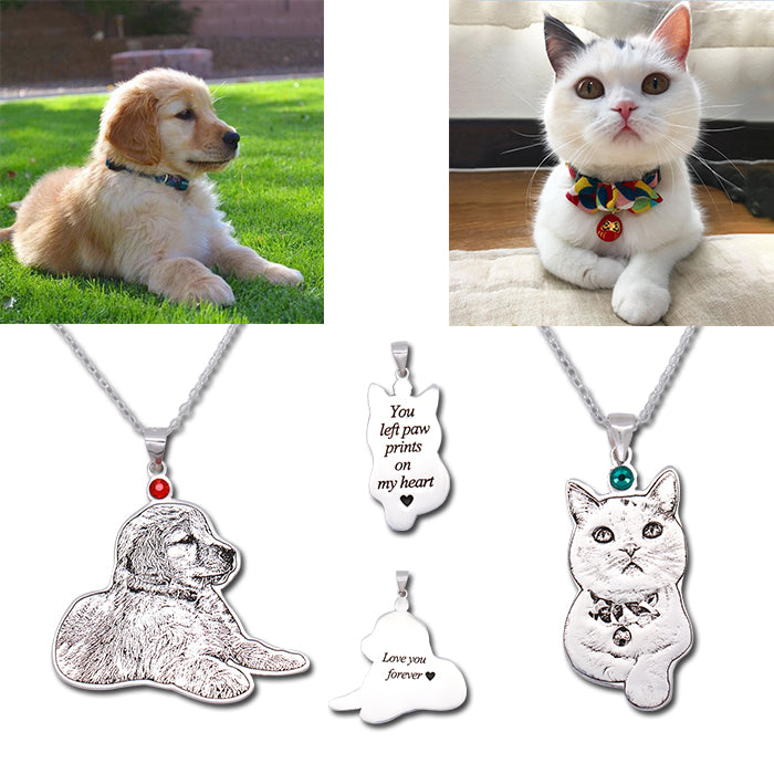 Personalized Engraved Photo Necklace