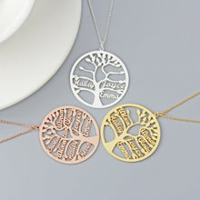 Load image into Gallery viewer, Personalized Family Tree Name Necklace