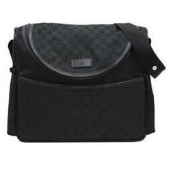 All Black baby changing bag