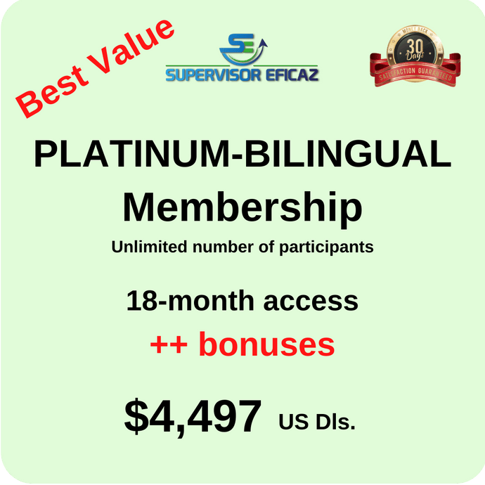 18 MONTHS ACCESS  - in Spanish with subtitles in English