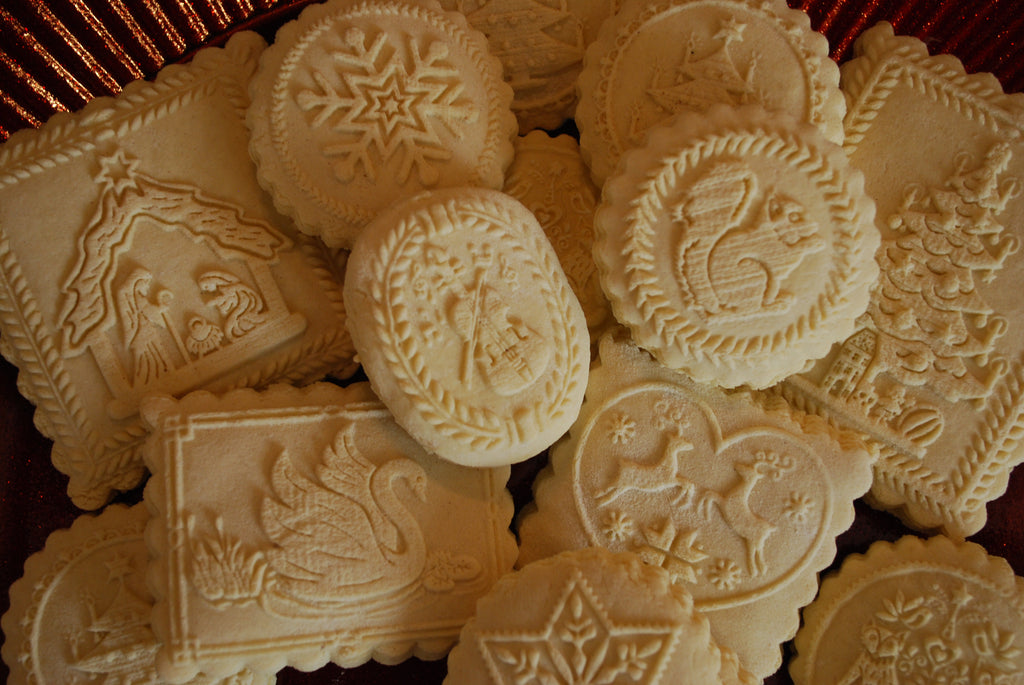 Anise Springerle Cookies with Granulated Sugar