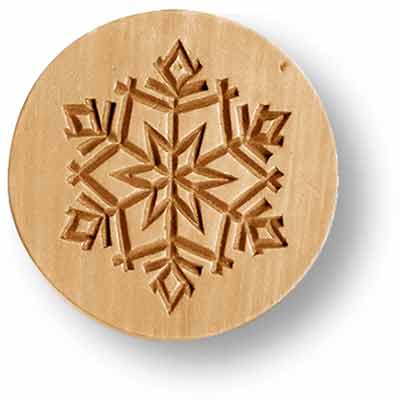 1015 Snowflake Simple Springerle Emporium Cookie Mold Anis Paradies
