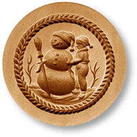 1016 Boy BUilding Snowman Springerle Emporium Cookie Mold Anis Paradies