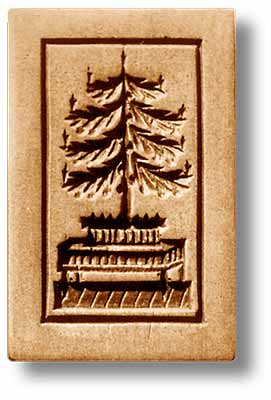 1018 Christmas Tree on Table Springerle Cookie Mold Emporium Anis Paradies