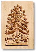1019 Christmas Tree Springerle Emporium Cookie Mold Anis Paradies